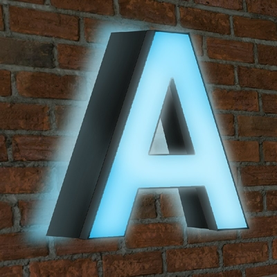 Channel Letter Front and Back Lit